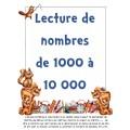 Lecture de nombres 1000 à 10 000