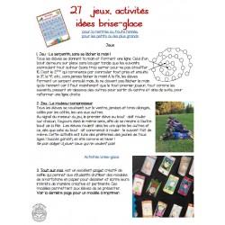 27 idées et activités BRISE-GLACE