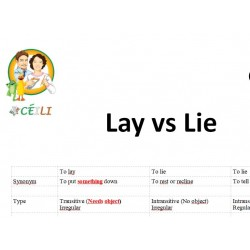 To Lay vs to Lie