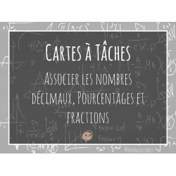 Associer décimaux, pourcentages et fractions