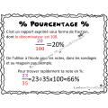 Affiches (suite) fraction, # décimal, %