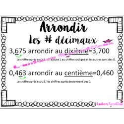 Affiche #3 décimaux-arrondir