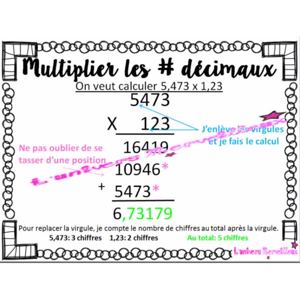Affiche #5: multiplier les décimaux