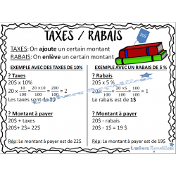 Affiches TAXES/RABAIS