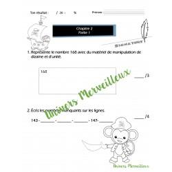 Évaluation math: Mathéo chapitre 2-partie 1