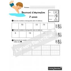 Document d'observation-mathématique -2e année
