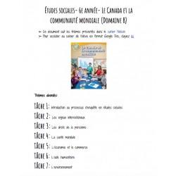 6e- Le Canada et la communauté mondiale