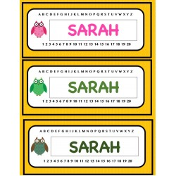 Étiquettes Noms pour les pupitres