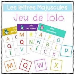 Loto - bingo des lettre majuscules