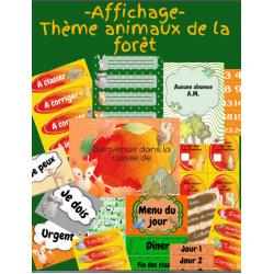 Affichage- Thème animaux de la forêt