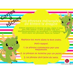 CAT-Les phrases mélangées de Simon le dragon