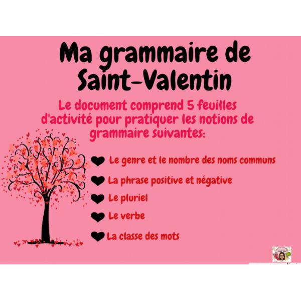 Ma grammaire de Saint-Valentin- 1er cycle