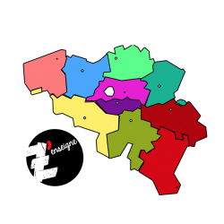 CLIPART - Les provinces de Belgique