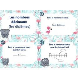 cartes à tâche nombres décimaux