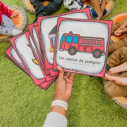 cartes vocabulaire maxi format - POMPIER