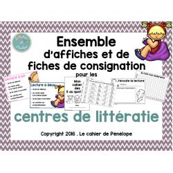 Affiches et fiches: ateliers de litttératie