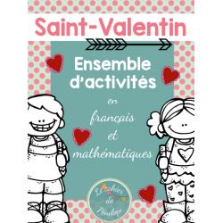 Saint-Valentin : ensemble d'activités