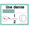 Affiches de fractions pour la classe