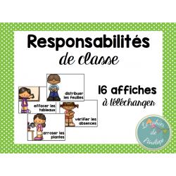 Affichage pour les responsabilités de classe