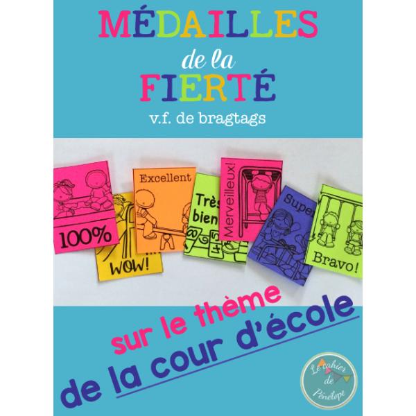 Médailles de la fierté (thème: la cour d'école)