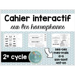 Cahier interactif-les homophones au 2e cycle