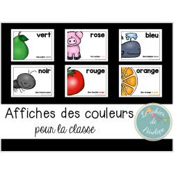 Affiches des couleurs pour la classe