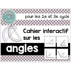 Cahier interactif-Les angles (2e et 3e cycle)