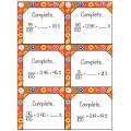 Cartes à tâches-fractions et pourcentages