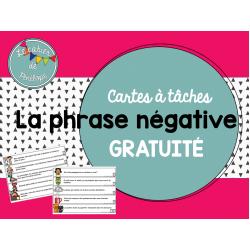 Cartes à tâches-la phrase négative