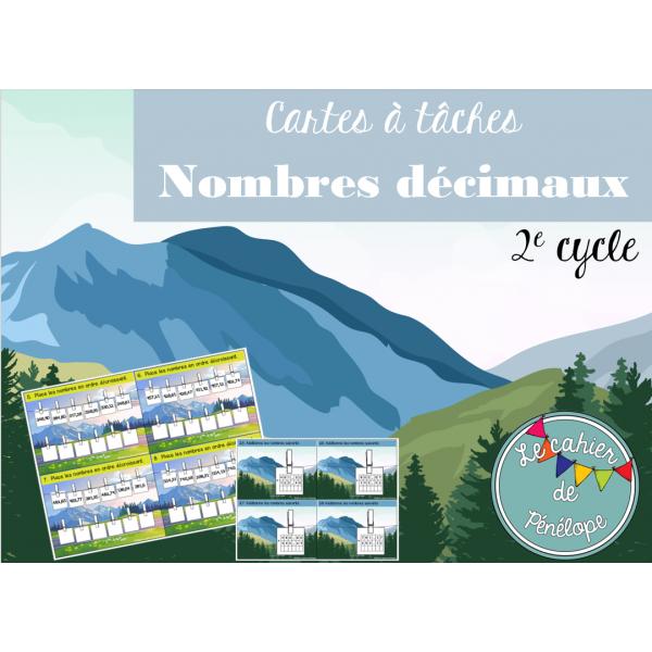 Cartes à tâches sur les nombres décimaux