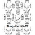 Planificateur 2020-2021 (noir et blanc)