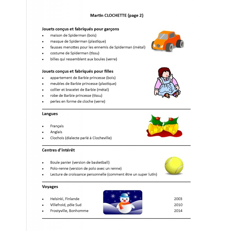 cv et lettre de motivation de lutin