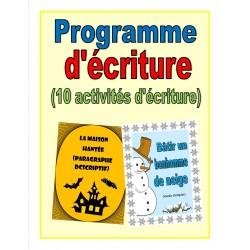 Programme d'écriture (10 activités)