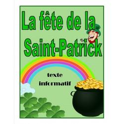 La fête de la Saint-Patrick (texte informatif)