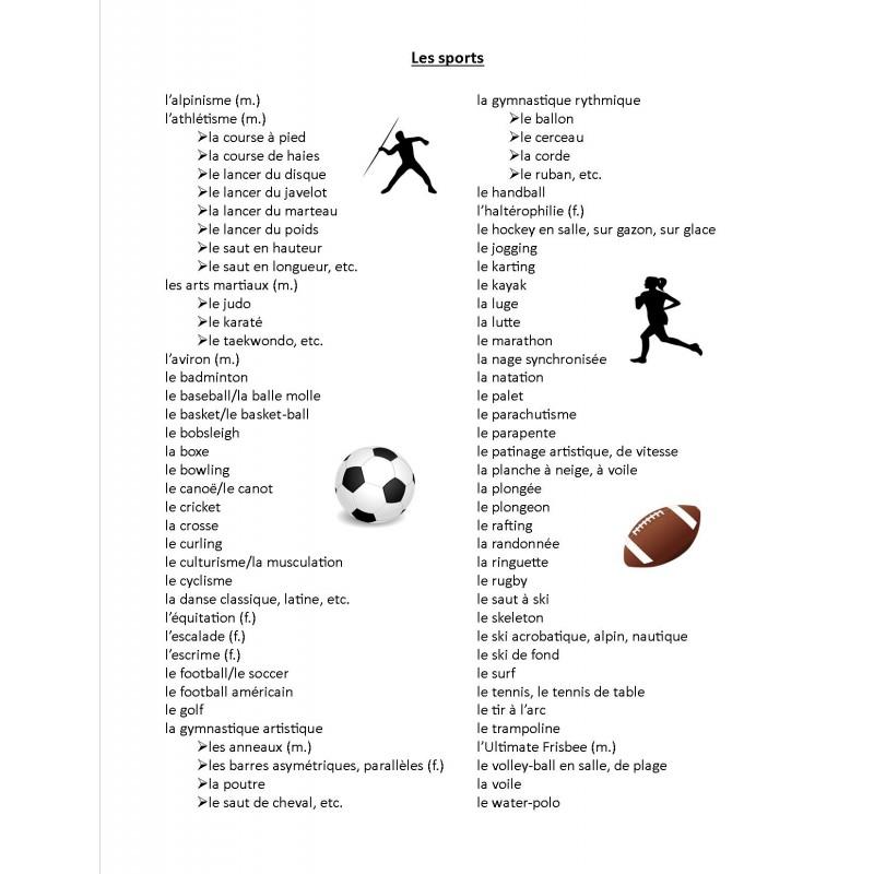 Sport - słownictwo 11 - Francuski przy kawie
