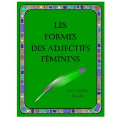 Les formes des adjectifs féminins