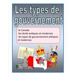 Les types de gouvernement