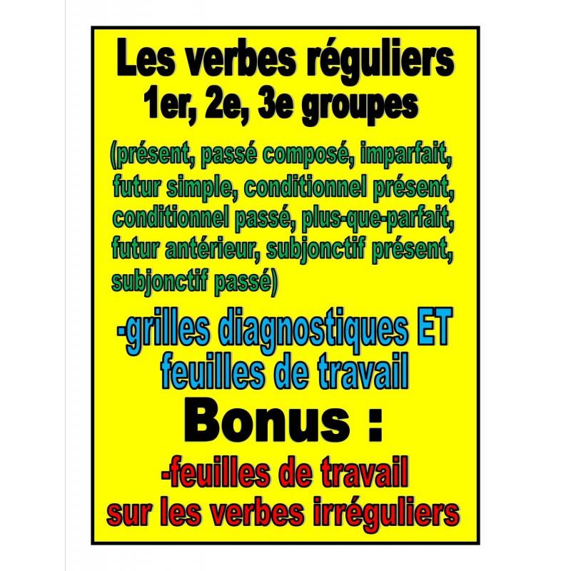 Verbes Reguliers 1er 2e 3e Groupes