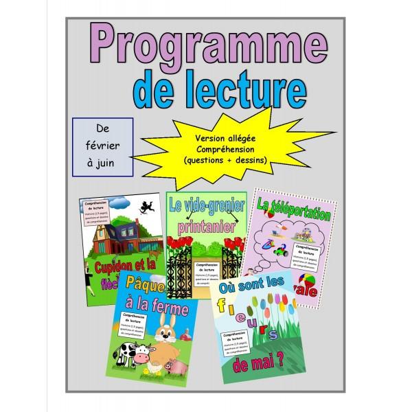 Programme de lecture allégée (février à juin)