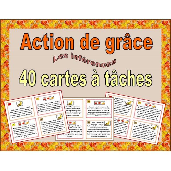 Action de grâce - cartes à tâches - inférences