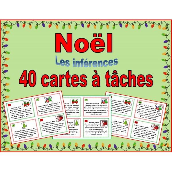 Noël - cartes à tâches - inférences