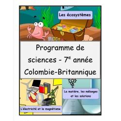 Programme de sciences (7e année)