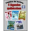 Cinq légendes québécoises (Théâtre de lecture)