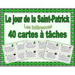 Le jour de la Saint-Patrick - cartes à tâches
