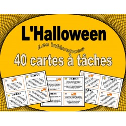 Halloween - cartes à tâches - inférences