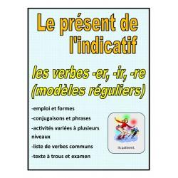 Le présent de l'indicatif (modèles réguliers)