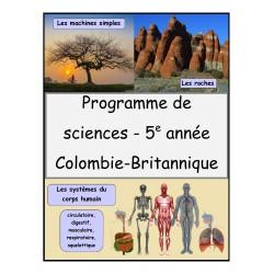 Programme de sciences (5e année)