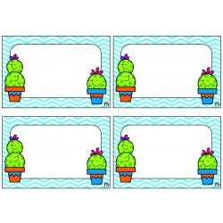 Étiquettes casiers Cactus