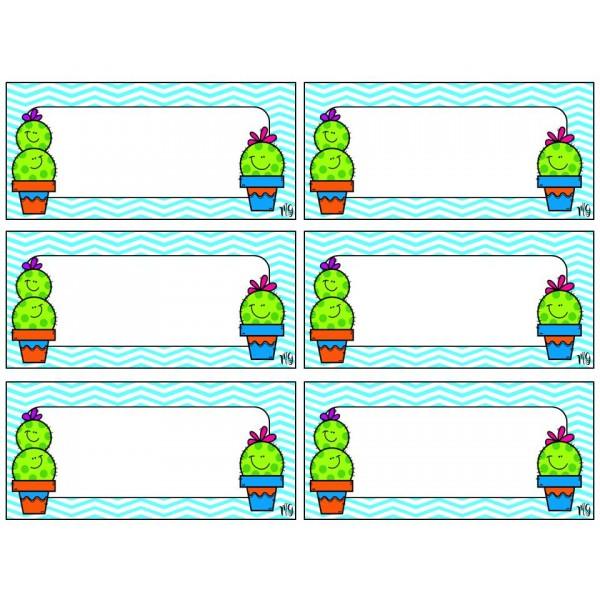 Étiquettes nom crochets corridor CACTUS