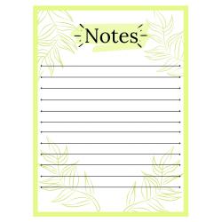 Feuille de notes à imprimer - Gratuit
